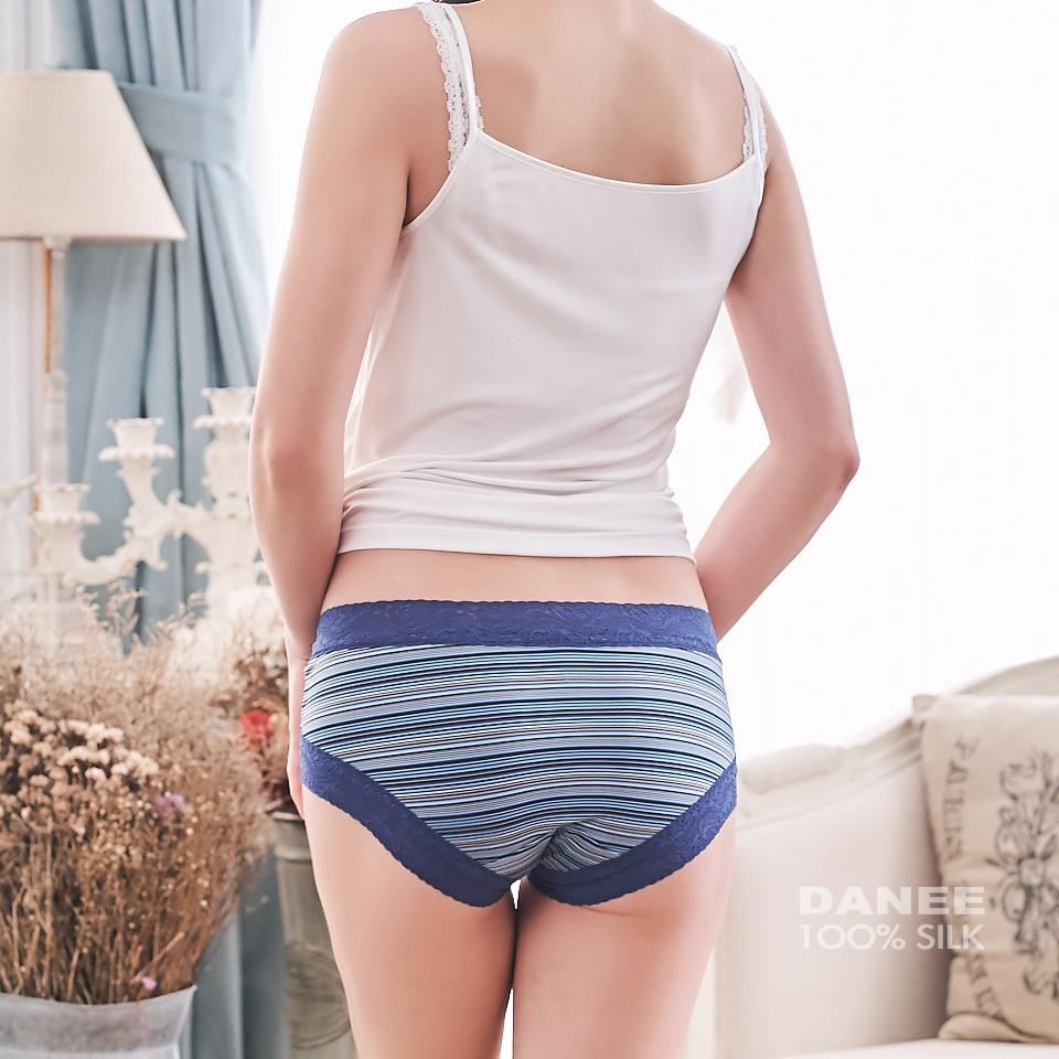 純蠶絲,條紋,無痕內褲,蠶絲內褲,低腰內褲,平口內褲,蠶絲低腰內褲,藍色內褲,女內褲,內褲,女生內褲,蠶絲