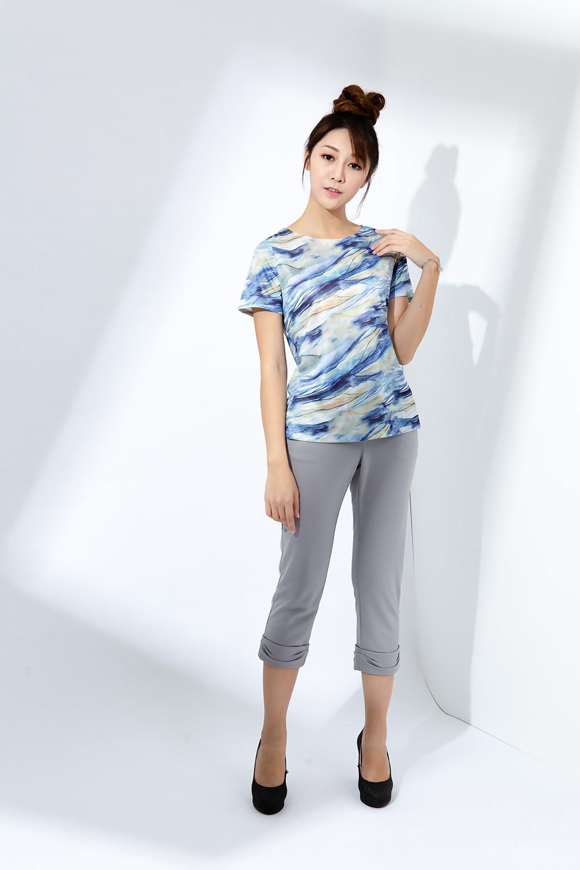 蠶絲褲,純蠶絲,PK布,造型長褲,淺色褲子,七分褲
