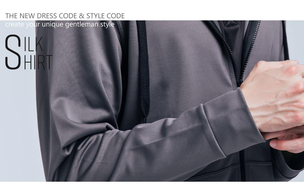 蠶絲外套,pk布,蠶絲上衣,男裝連帽外套,休閒外套,吸濕排汗,居家外套