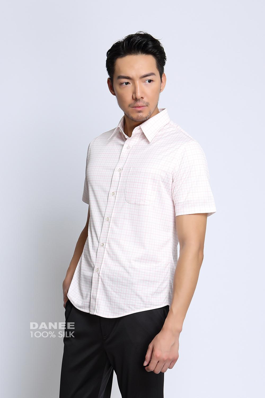 蠶絲上衣,蠶絲襯衫,純色襯衫,上班族