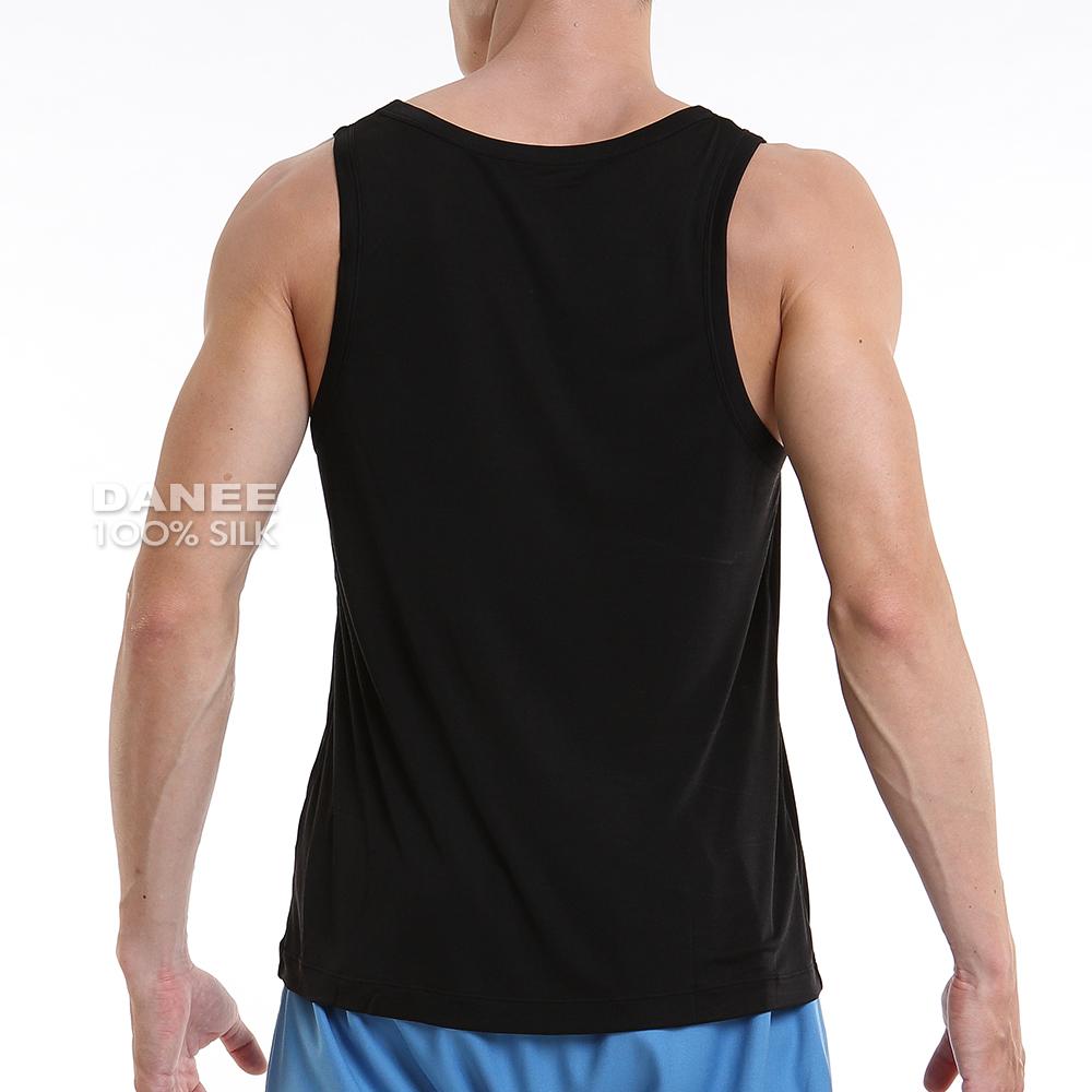純蠶絲,42針,背心,蠶絲背心,蠶絲內搭,圓領背心,男背心,蠶絲,岱妮蠶絲