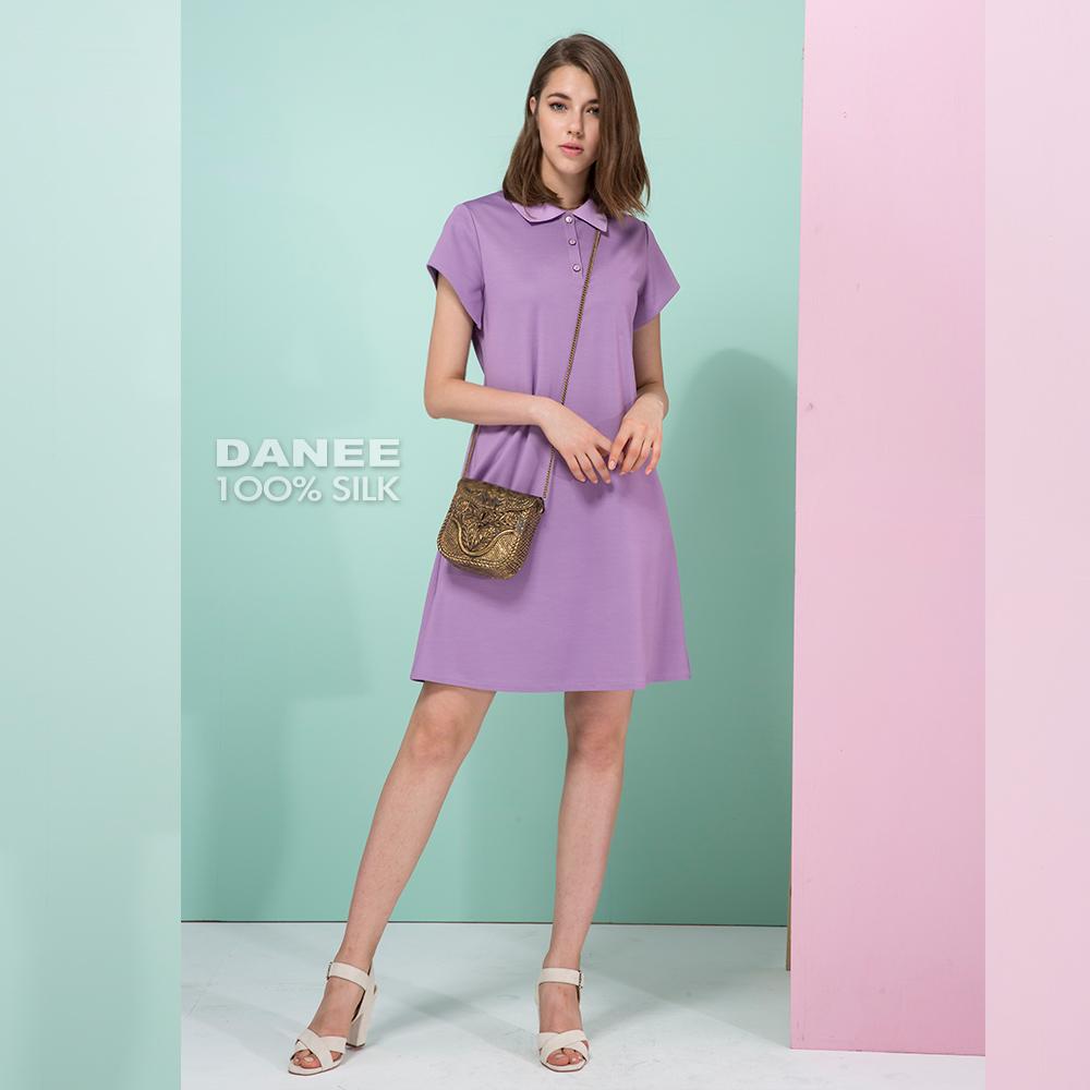 蠶絲洋裝,短袖洋裝,設計師款
