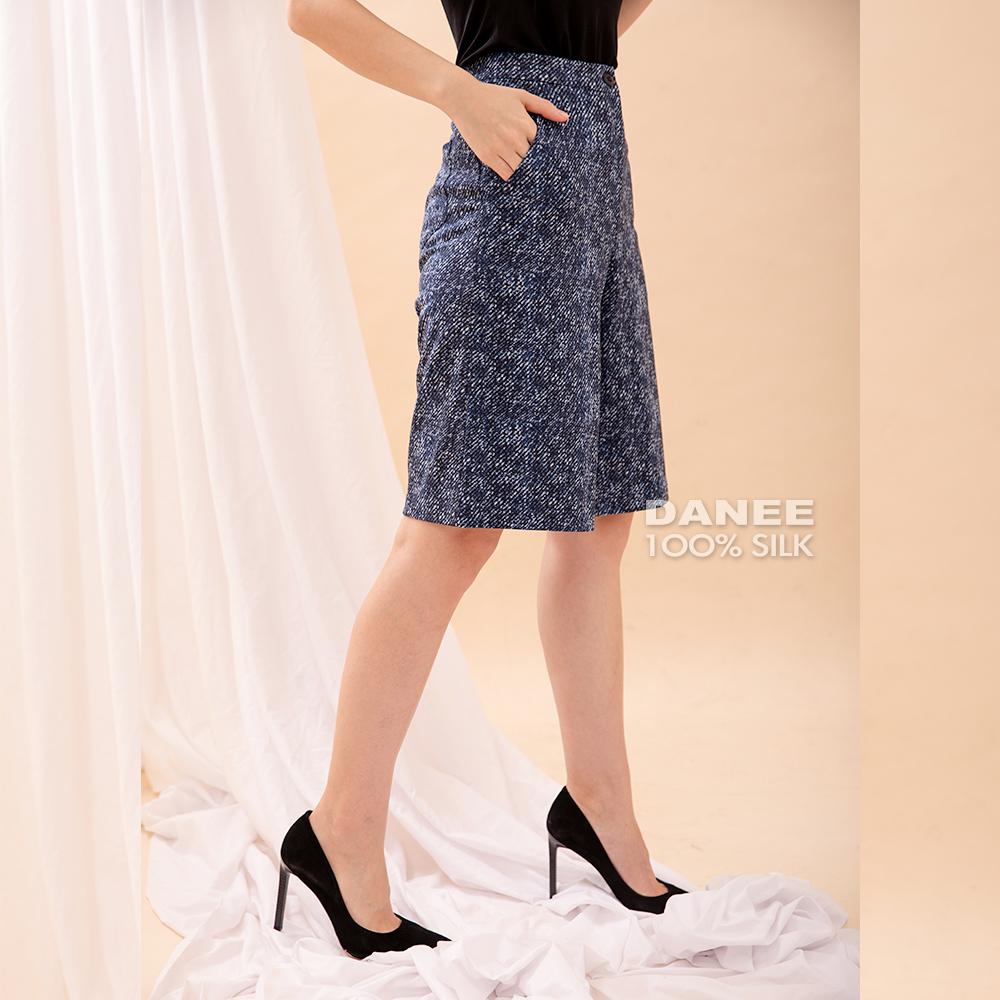 蠶絲褲,純蠶絲,PK布,寬褲,花褲,設計師