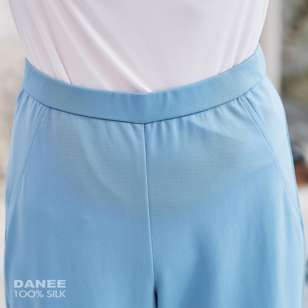 蠶絲長褲,蠶絲寬褲,寬褲,PK布,雪紡