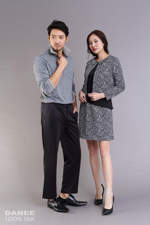 蠶絲洋裝,蠶絲上衣,假兩件上衣,PK布,吸濕排汗紗
